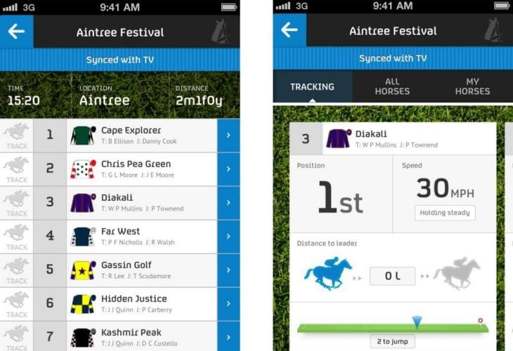 Grand National horse names with tracker app