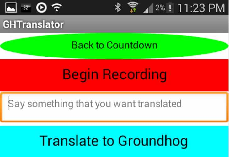 Groundhog Day 2015 app