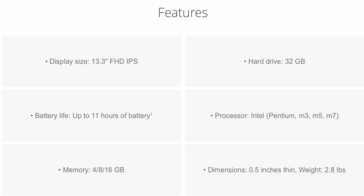 HP Chromebook 13 features