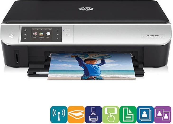 The HP Envy 5531 prints from your smartphone and tablet