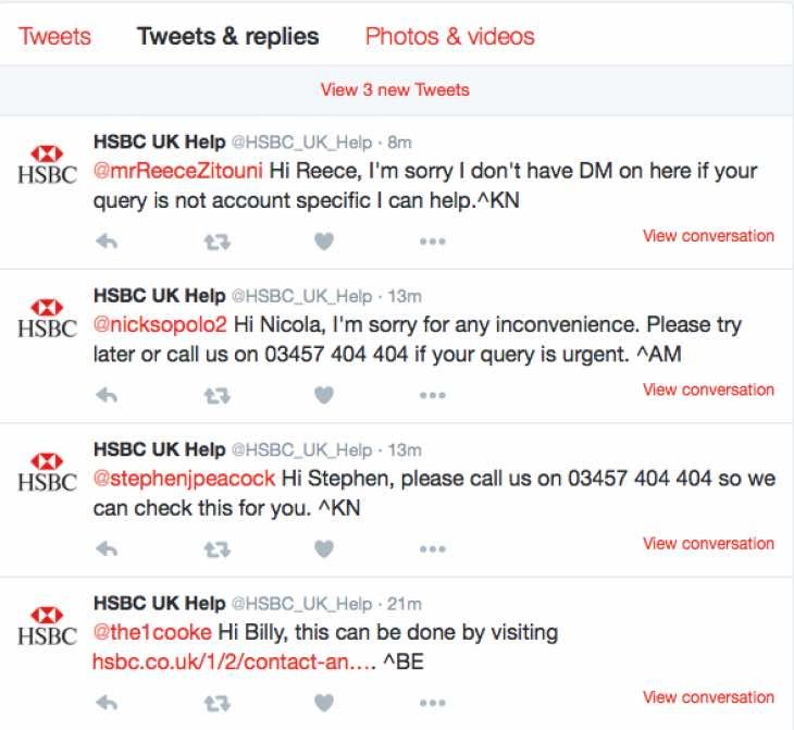 HSBC attack