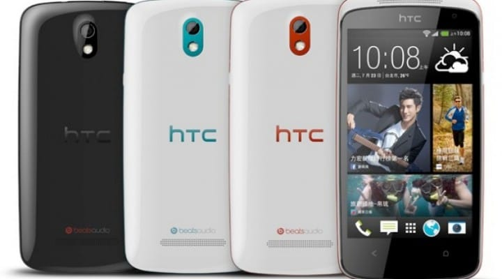 HTC Desire 500 size vs. Galaxy S4, Note 2 and more