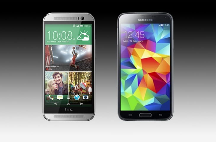 HTC One M8 and Galaxy S5 spurt