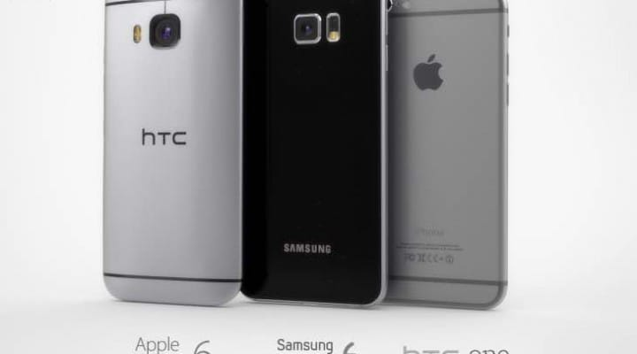 HTC One M9 vs. Galaxy S6 renders and iPhone 6