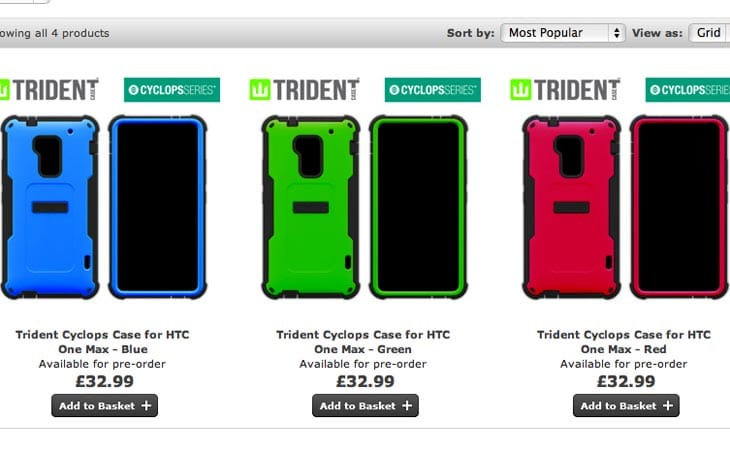 HTC One Max cases are live to pre-order right now