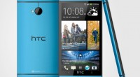 HTC One Vivid Blue color up close