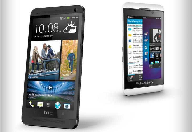 HTC One vs. BlackBerry Z10 ratings and reviews
