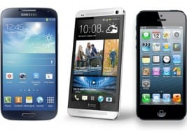 HTC One vs. Galaxy S4, iPhone 5 assessed by benchmark