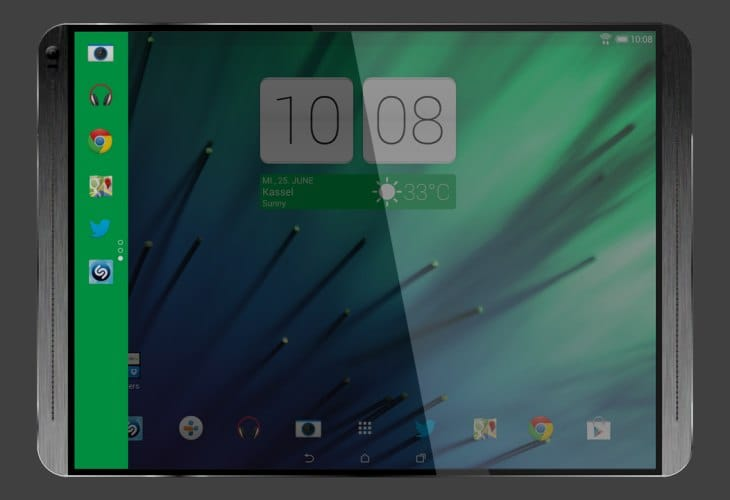 HTC T12 tablet features and design teased