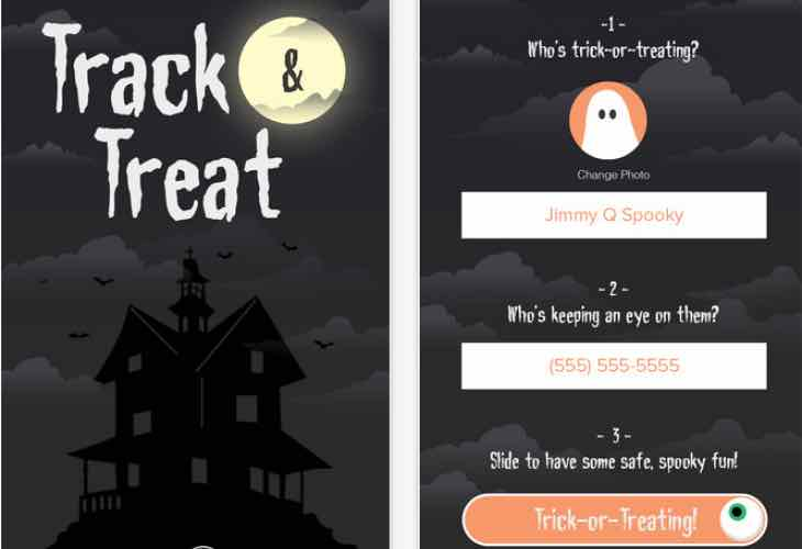 Halloween Trick or Treat tracker app