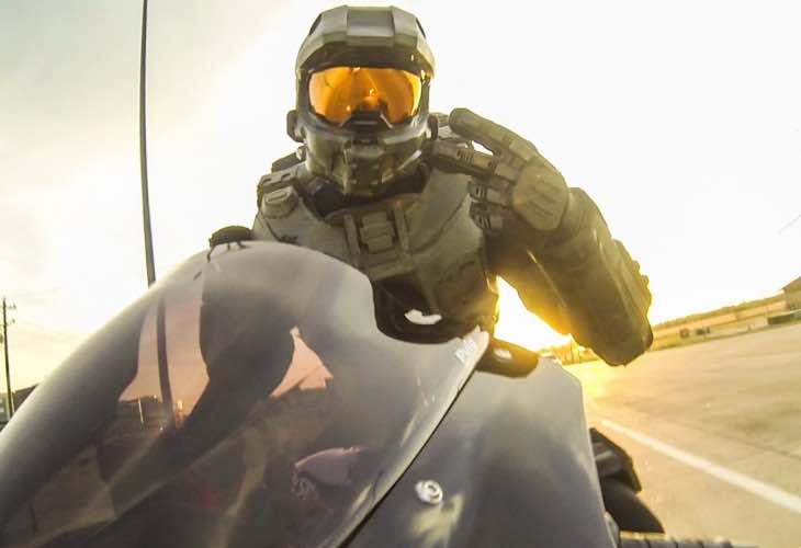 Halo Master Chief motorcycle helmet price eludes