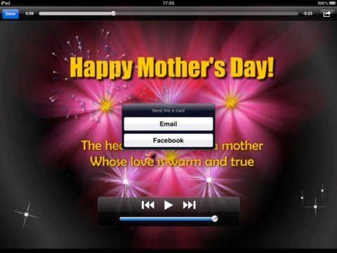 Happy Mother's Day Video (Animated) Greeting Cards for iOS