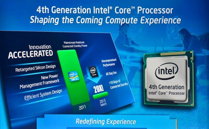 Intel's new Haswell chip increases performance and battery life