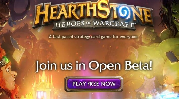 Hearthstone Heroes of Warcraft open beta goes live