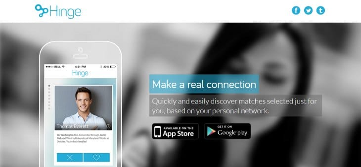 Hinge dating app for Android and iOS