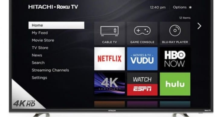 Hitachi 50R8, 55R7 and 65R8 Roku 4K TV models at Sam's Club