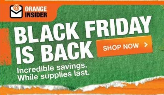 Home Depot is about to start its pre-Black Friday sale