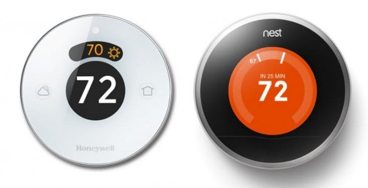 Honeywell Lyric thermostat vs. Nest