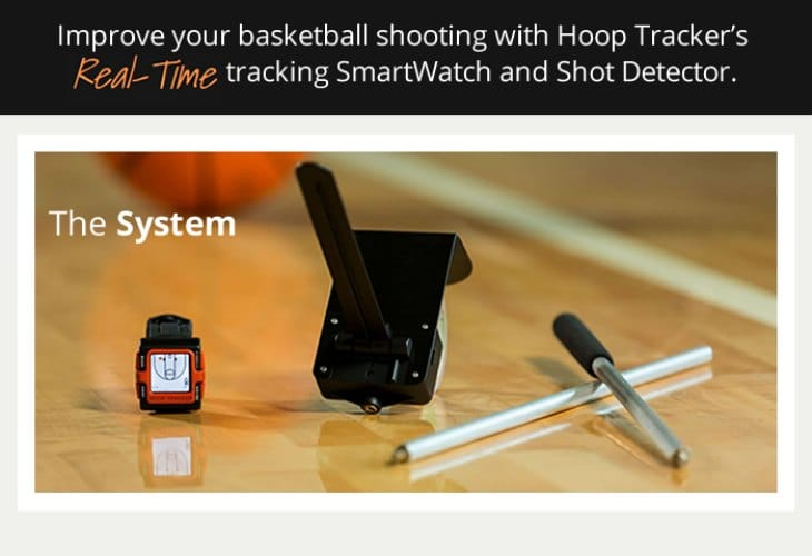 Hoop Tracker smartwatch for basketball players