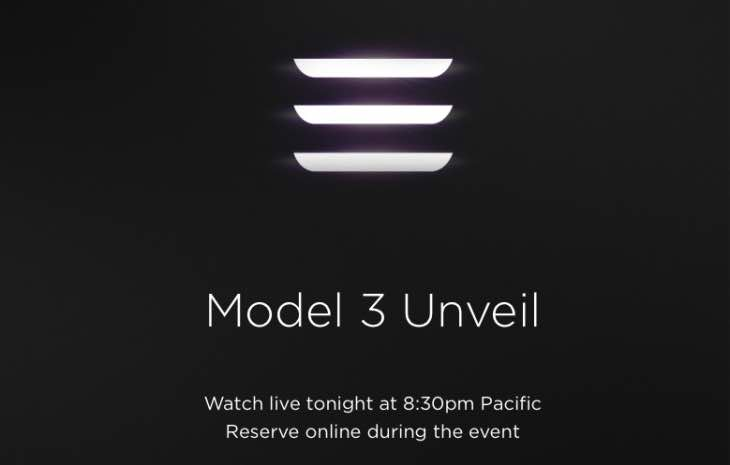 How to watch Tesla Model 3 unveil