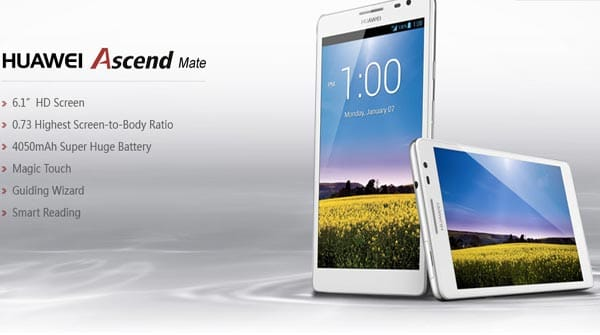 Huawei showcase 6.1-inch Ascend Mate with Android 4.1.2