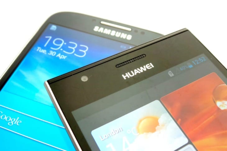 Huawei Ascend P2 vs. Galaxy S4