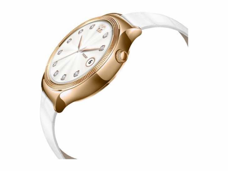 Huawei Smart Watch Elegant with Pearl White Italian Leather Strap