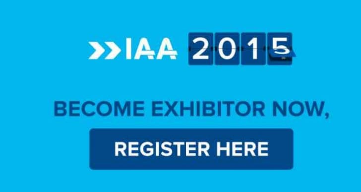 Entire IAA 2015 exhibitor list not yet finalized