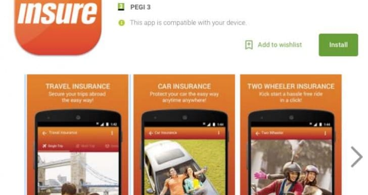 ICICI Lombard Insure car insurance app features updated