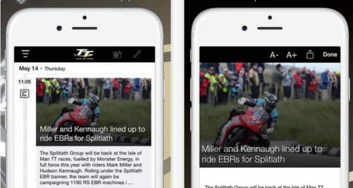 IOM TT 2015 app update for leaderboard news