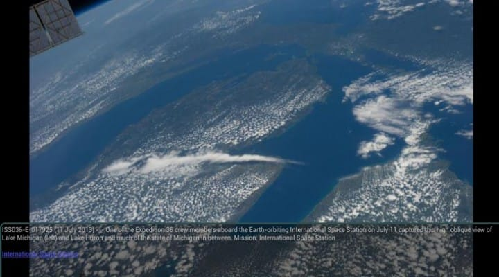 ISS live feed plus NASA Android app