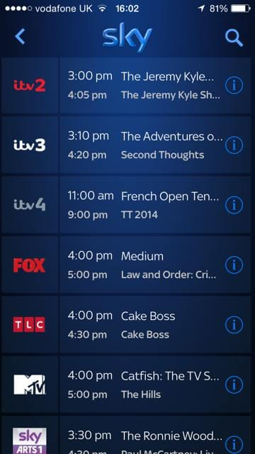 ITV stream in Sky Go 2