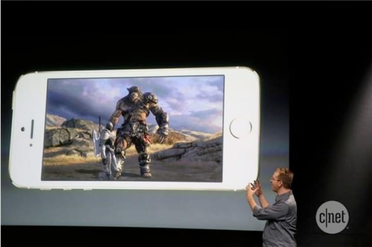 Infinity Blade 3 showcased on the new iPhone 5S