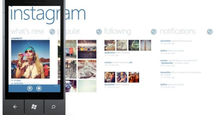 Instagram for Windows Phone download temptation