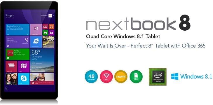 Intel Nextbook 8-inch Windows 8.1 specs