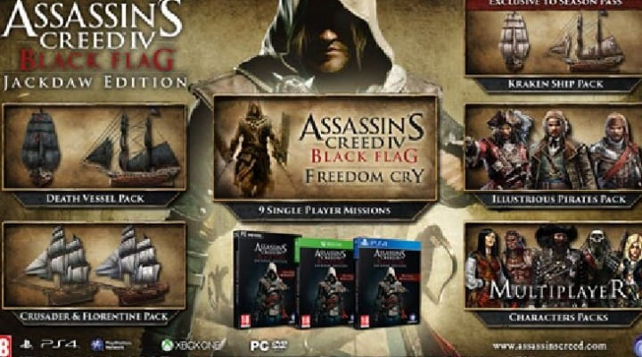 Assassin's Creed 4 exclusive Jackdaw bundle
