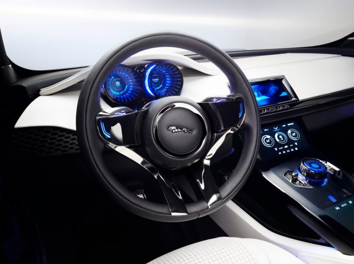 Jaguar C-X17 front of interior