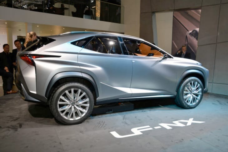The Lexus LF-NX concept is nice from the side, but the front is comical