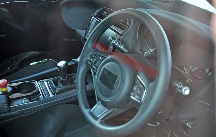 Jaguar F-Pace interior glimpsed, similar to XF