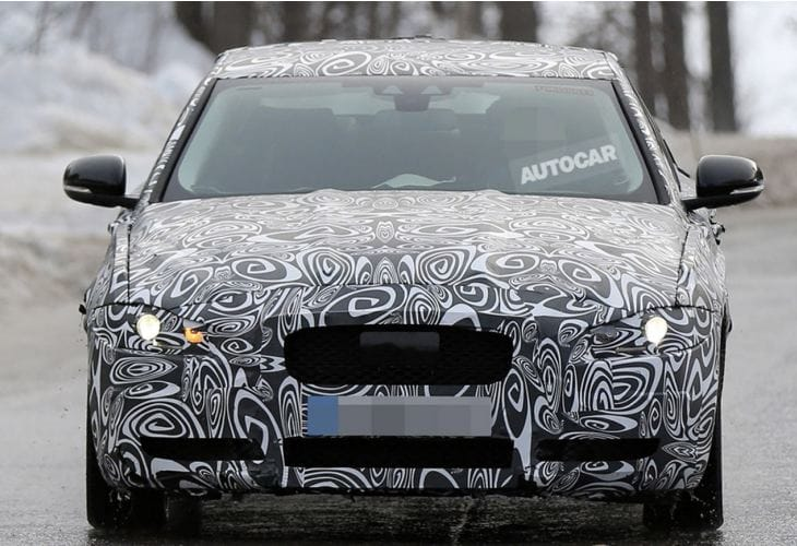 Jaguar XE vs. BMW 3-series from spy shots