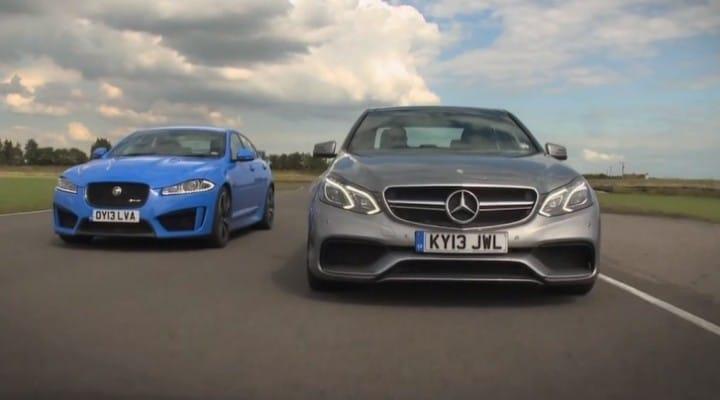 Jaguar XFR-S vs. Mercedes E63 AMG in visual review