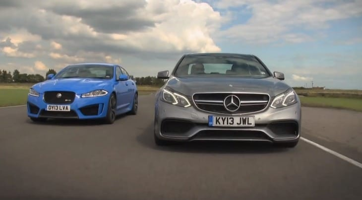 Jaguar XFR-S vs. Mercedes E63 AMG in visual review