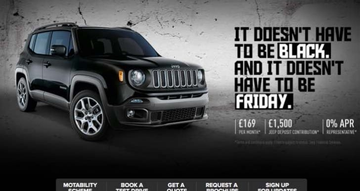 Jeep Renegade discount promotion starts today, Dec. 3