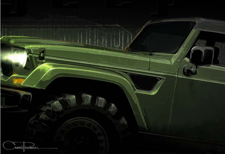 Jeep Wrangler Tailcoat concept