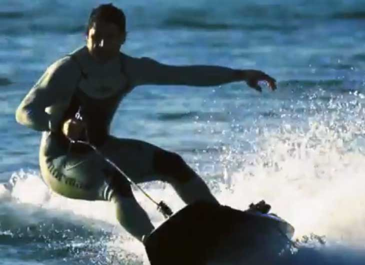 Jet surfboard video reveals innovative gadget