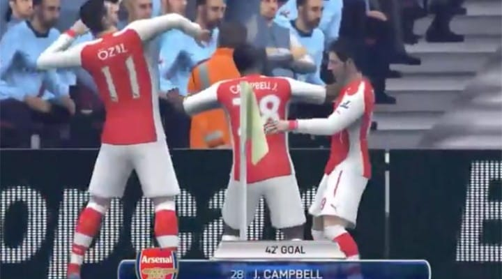 Arsenal vs. Manchester City score today in FIFA 14 prediction
