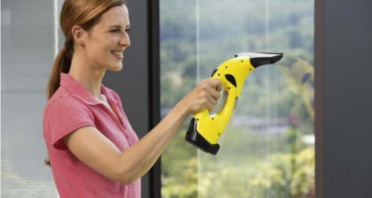 KARCHER WV2 Window Vacuum Cleaner review with warning signs