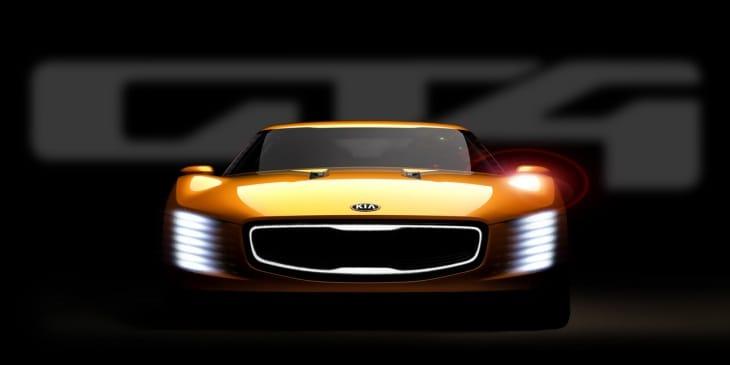 KIA GT4 Stinger exterior ahead of Detroit Auto Show