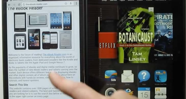 Amazon Kindle Fire HDX 7 Vs Galaxy Tab 4 in triple review