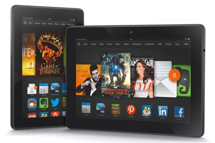 Kindle Fire HDX to compete with iPad mini 2